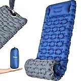 OCOOKO Isomatte Camping schlafmatte mit Fußpresse Pumpe -...